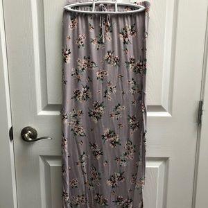 Ardene floral maxi skirt.